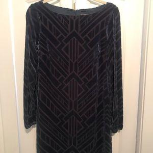 Vince Camuto velvet long sleeve dress